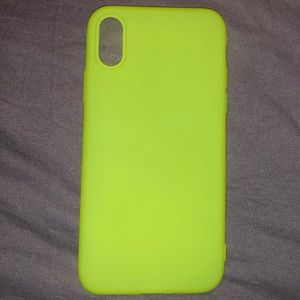 NEON GREEN IPHONE X CASE
